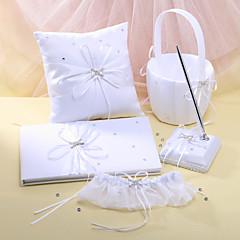 """Fairytale dream"" bryllup samling satt i hvit sateng (5 stk)"
