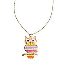 Retro Rainbow Owl Necklace