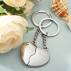 Personalized Split Heart Keyrings (Set of 4 pairs)