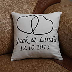 Gifts Bridesmaid Gift Personalized Heart Design Pillow Case (Pillow not included)