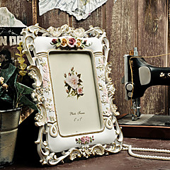 "7 ""Country Floral Præget Polyresin Picture Frame"