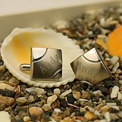 Cadeaux Pièce / Set Boutons de manchettes & Clips de cravate Classique Mariage Célébration Anniversaire Business Inox PersonnaliséBoutons
