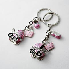 Chá de Bebê Party Favors & Gifts-4Peça/Conjunto Chaveiro para Lembrancinha Cromo Personalizado Rosa