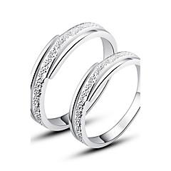 pěkný 925 mincovní stříbro prsteny páry