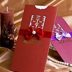 """מותאם אישית הזמנות ומעטפות הזמנות לחתונה כרטיסי הזמנה-50 יחידה / סט סגנון קלאסי נייר פנינה 8 ½""""×4"""" (20.8*10.3ס""""מ) סרטים"""