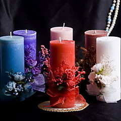 Colorful Candle With Bowknot Coral Wedding
