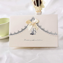 """Our Big Day"" Wedding Invitation With Ribbon Bowknot (Set of 50)"