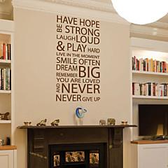 Words & Quotes wall stickers har håb aldrig give op vaskbare væg decals