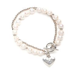Pearl Strand Heart Bracelet