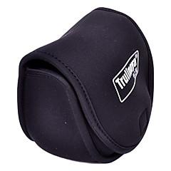 Trulinoya-Portable Spinning Wheel tvaru Black Fishing Reel Bag