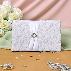 Guest Book Satin Classic Theme Floral ThemeWithPetals