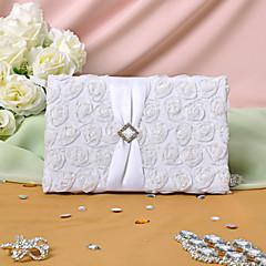 Livro de Convidados Cetim Tema Clássico Tema FloralWithPétalas