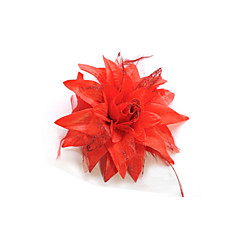 Branca Flor Broche Womens Feather