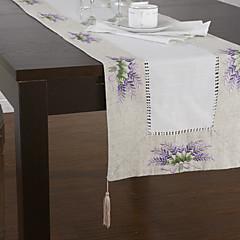 land lilla blomstret linned bordløbere