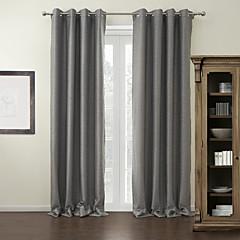 moderne zwei Platten festen grauen Wohnzimmer Polyesterverdunklungsvorhänge Vorhänge