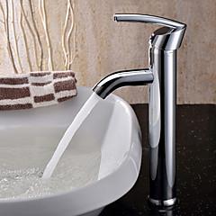 Zeitgenössisch Becken Keramisches Ventil Einhand Ein Loch with Chrom Waschbecken Wasserhahn
