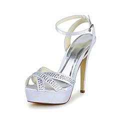 Women's Wedding Shoes Peep Toe Sandals Wedding Black/Blue/Pink/Purple/Red/Ivory/White/Silver/Gold/Champagne