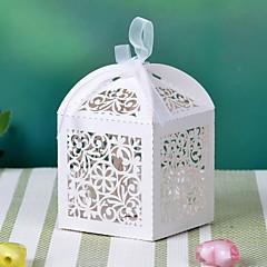 Blumen-Design Laser-Cut-Box mit Band (mehr Farben) 12-gesetzt