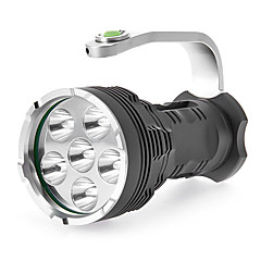 5-tilstand 6xCree XM-L T6 LED lommelygte (8000LM, 4x18650, Gray)