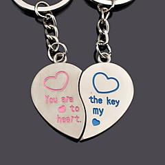 personifierad hjärta par nyckel nyckelring - set om 6 par