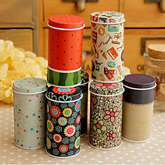 Schöne Mini Tea Kanister Tragen Tin Box (zufällige Farbe)