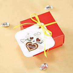 Gepersonaliseerde Favor Tags - Chocolade Hart (set van 36)