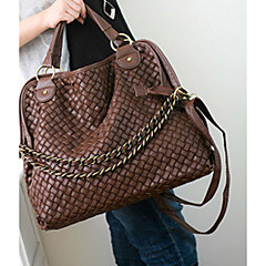 MIQIANLIN Fashion PU Leder Schultertasche / Messenger Bag (Kaffee)
