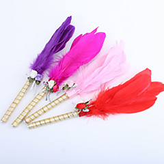 Feather Wedding Pen With Flowers (More Colors) Sign In Book Coral Wedding