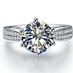 Ring Women's Diamond Silver / Sterling Silver / Platinum Plated Silver / Sterling Silver / Platinum Plated Love5 / 6 / 7 / 8 / 8½ / 9 /