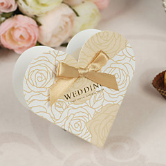 12 Piece/Set Favor Holder - Heart-shaped Card Paper/Pearl Paper Favor Boxes Non-personalised