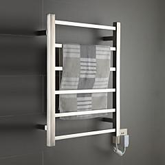 60W spejl børstet vægbeslag firkantrør håndklæde warmmer tørrestativ