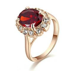 Anéis Casamento / Pesta / Casual Jóias Cristal Feminino Anéis Statement6 / 7 / 8 / 9 Dourado