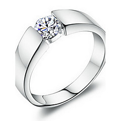 Ring Women's Cubic Zirconia Platinum Plated / Brass Platinum Plated / Brass 7 / 8 / 9 / 10 / 11 / 12 SilverColor & Style representation