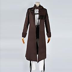 に触発さ 進撃の巨人 Mikasa Ackermann アニメ系 コスプレ衣装 コスプレスーツ パッチワーク コート シャツ パンツ エプロン ベルト スカーフ バッジ 用途 男性用 女性用