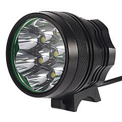 7T6 3-Mode 7xCree XM-L T6 rechargeables Lumières de vélo (4x18650, 6300LM, Gris)