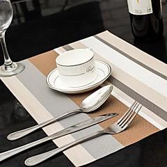 Verschiedene Farben gestreift Tischset für Abendessen, L45cm x B 30cm, hitzebeständig PVC