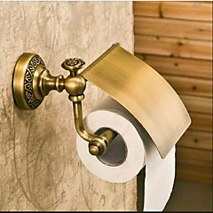 WC-Rollenhalter Bronze, antik Wandmontage 19*10cm(7.48*2.93inch) Messing Antik