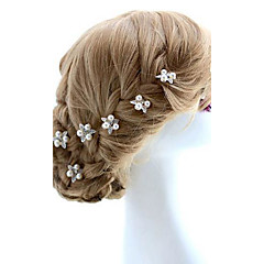 Mujer / Niña de flor Aleación / Perla Artificial Celada-Boda / Ocasión especial Pasador de Pelo 2 Piezas