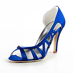 Mujer Zapatos de boda Tacones/Punta Abierta Sandalias Boda/Fiesta y Noche Negro/Azul/Rosa/Morado/Rojo/Marfil/Blanco/Oro