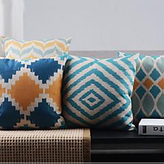 set van 4 postmoderne minimalisme regelmatige geometrische decoratieve kussenslopen