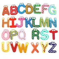Lustig Magnetic Alphabet 26 Buchstaben aus Holz Magnete Bildungs Kinder Spielzeug (26-Pack)