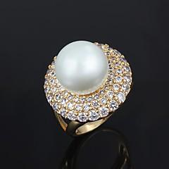 指輪 男性用 人造真珠 真鍮 真鍮 画像参照 装飾物のカラーは画像をご参照ください.