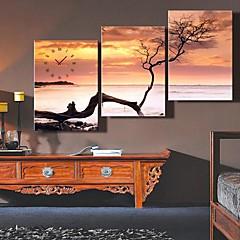 Døde træer Art Clock i Canvas 3stk