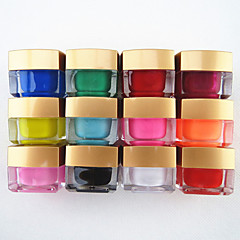 12st Mischfarbe reine Farbe UV Aufbau Gel UV-Gel-Farblack Nagelkunst Dekoration (8 ml)