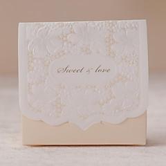 12 Stück / Set zugunsten Halter - Quader Kartenpapier Bevorzugungskästen floralen Stil