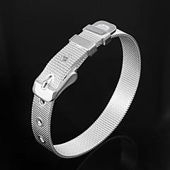 Trevlig Brass Silver pläterad Bangles Armband