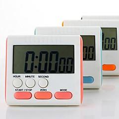 """Elektronische Stoppuhr Countdown-Uhr Küchen-Timer (zufällige Farbe), Kunststoff 3 """"X2.8"""" x0.6 """""""