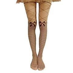 Sokken en kousen Klassiek en Tradtioneel Lolita Lolita Prinses Zwart / Vlaskleurig Lolita Accessoires Kousen Strik / Effen Voor Dames