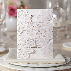 Gorgeous Flora Design White Wedding Invitation-Set Of 10/20/50