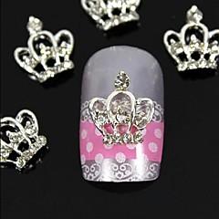 10st 3d diy strass kroon voor de vingertoppen legering nail art decoratie